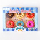 6pcs Cute Donut Eraser Writting Rubber Eraser Primary School Student Stationery blue