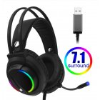 7.1 Head-mounted Headphones Surround Sound Usb 3.5 Mm with Cable and Optical Rgb for Tablet / Pc /xbox / Ps4  7.1usb interface