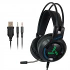 7.1 Surround Sound Gaming Headset With Microphone LED Colorful Game Headphones Bass Stereo for Xbox  black