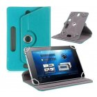 7 8 9 10 Inch Universal 360 Degree Rotating Four Hook Leather Tablet Protection Case Sky blue 8 inch