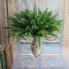 7 Artificial Lifelike Large Silk Boston Fern Plant Green Grass Home Decoration