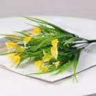 7 Branches Calla Lily Artificial Flowers Plastic Flower Living Room Decoration Planter Arrange Flowers yellow