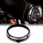 7  Burst Headlamp Trim Ring Headlight Cover For  Touring Street Glide Road King Trikes FLHX FLHR FLH T 96 18 black