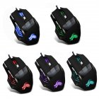7 Buttons 5500 DPI Office Optical Mouse RGB Backlit For PC Laptop Colorful