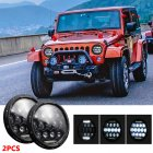 7 INCH 280W LED Headlights 6000K 28000LM Halo Angle Eye For Jeep Wrangler CJ JK LJ 97 17 6000K White