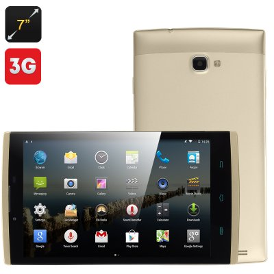 7 Inch 3G Android 4.4 Tablet (Champagne)