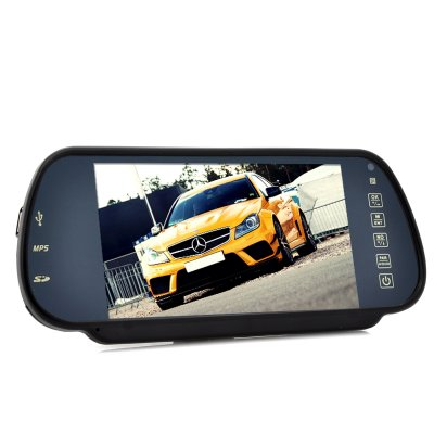 Rear View Mirror Monitor and MP4 Player