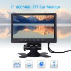 7 Inch Car Monitor 800 480 TFT Color LCD Screen Car Parking System Monitor For Car Reverse black