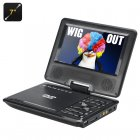 7 Inch portable DVD player  Comes with a game controller so you can download and play emulator games  FM Radio  TV Antenna  Ebook reading  and more