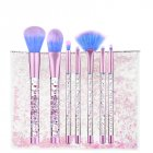 7 Pcs Glitter Diamond Makeup Brushes Set Fashion Crystal Brush Foundation Powder Eyeshadow Cosmetic Brush Tools with Bag