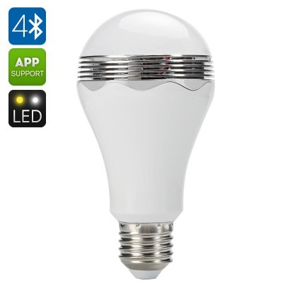 Bluetooth LED Light Bulb + Speaker