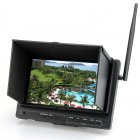 7 inch HD LCD all in one FPV 1024x600 resolution monitor  With a built in high sensitivity 32ch 5 8 GHz receiver and integrated DVR and external battery