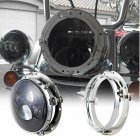 7 inch Round Shaped LED Headlight Mounting Ring for Car Auto silver