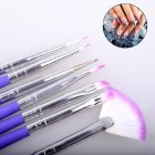 7 pcs/set Nails Painting Pen Brushes Nail Art Decorations UV Gel Polish Brush Set