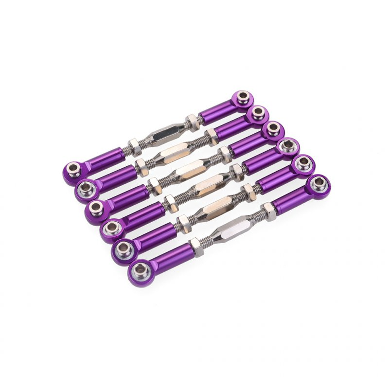 71mm Aluminum Turnbuckle Rod Linkage For RC 1/10 Redcat Traxxas EPX HSP ZD Racing HPI  Truck Buggy Truggy Upgrade Parts purple