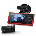 720p Front Car DVR and 720p Parking Camera System has a 2 7 Inch Monitor  G Sensor  4x LEDs and Motion Detection