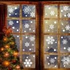 76pcs set Removable Snowflake Shape Wall Sticker Static Art Mural for Christmas Window Glass Door Decoration