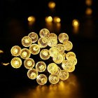 7M 50LEDs Diamond Bubble Designed Solar Powered String Light for Outdoor warm light  ME0003102