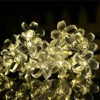 7M 50LEDs Peach Blossom Shape Outdoor Solar String Light for Decoration warm light_(ME0003902)
