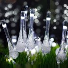 7M 50LEDs Solar Powered Water Drop Shape String Light IP65 Waterproof White light_(ME0003201)