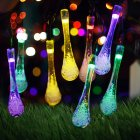 7M 50LEDs Solar Powered Water Drop Shape String Light IP65 Waterproof Color light_(ME0003203)