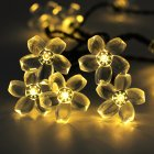 7M 50LEDs Waterproof Peach Blossom Shape Solar Powered String Light for Decor warm light_(ME0003902)