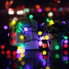 7M 50LEDs Waterproof White Ball Shape Solar Powered String Light for Decoration Color light_(ME0004003)