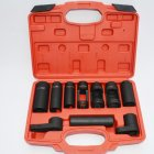 7PCS 10pcs Oxygen Sensor Socket Remover Tool Set Oxygen Sensor Removal Tool With Carrying Case Car Repair Tool Kit Box 10PCS