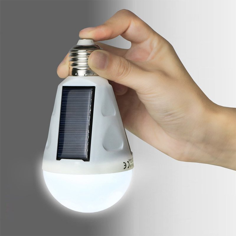 7W 400LM Portable LED Bulb Light E27 85-265V Intelligent Rechargeable Solar Lamp Emergency Lighting For Indoor and Outdoor
