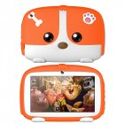 7inch Cartoon Puppy Tablet PC Android 4.4 1GB+8GB WiFi Dual Cameras LED Backlight Kid Laptop EU Plug Orange_1GB+8GB