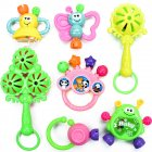 7pcs Baby Cute Hand Jingle Bells Puzzle Shaking Rattle Toys for Kids as Gifts