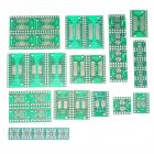7value*5pcs PCB Board Kit SMD Turn To DIP SOP MSOP SSOP TSSOP SOT23 8 10 14 16 20 24 28 SMT To DIP green