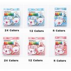 8/12/24 Colors Non-toxic Crayons Set for Kids Drawing Painting School Supplies Random Color