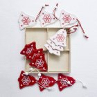 8/12pcs DIY Hanging Pendant Christmas Wooden Tree Hanging Ornament Christmas Xmas Decoration