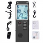 8/16/32 G Voice Activated Mini Digital Sound Audio Recorder Dictaphone MP3 Player
