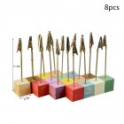 8/24/32pcs Colorful Pine Wedding Menu Clip Photo Holder with Wooden Base 8pcs