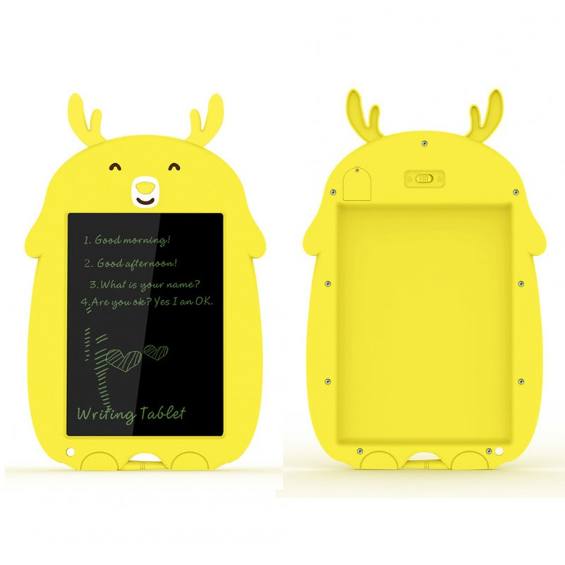 8.5 Inch Cartoon Smart Tablet Children's Smart Electronic LCD Drawing Board With Lock Yellow fawn