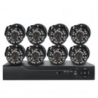 8 Channel DVR Surveillance System comes with 8 Outdoor Cameras and everything you need making it the Perfect one click surveillance system for  your premises