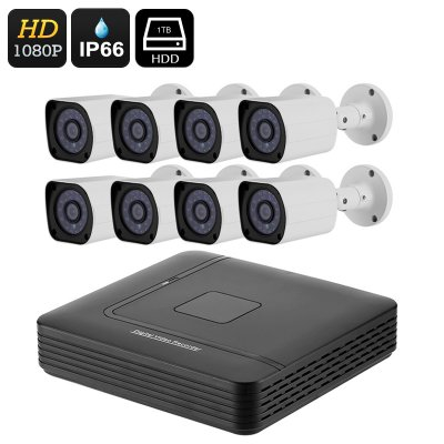 8 Channel Full-HD DVR System