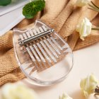 8 Key Kalimba Mini Portable Thumb Piano Finger Percussion Keyboard Pocket Musical Instrument with Random Color Necklace acrylic