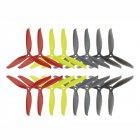 8 Pairs KINGKONG/LDARC 7040 3-blade CW CCW Propeller Yellow Red Black Gray for RC Drone FPV Racing as shown