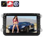8 inch car DVD player for Volkswagen cars  Android 4 4 OS  a powerful quad core processor  GPS  Bluetooth  and Wi Fi and 3G support