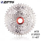 8-speed Bike Flywheel Cassette 11-40t All Silver Flywheel for Mountain Bike Silver