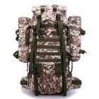 80L Large Capacity Camouflage Hiking Backpack Waterproof Outdoor Rucksacks for Camping Trekking Travelling Climbing Bag
