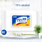 80pcs Sanitizing Wipes Ethanol Wipes Extraction Wet Tissue Disposable Household Cleaning Wipes 75% alcohol wipes