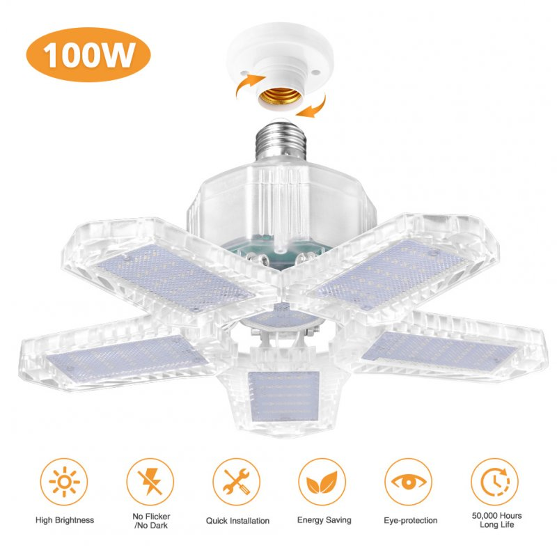 85-265V E27 Garage Light F2 100W Night Lamp for Workshop Warehouse Factory Gym Transparent shell