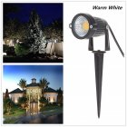 85 265V LED 5W COB Ground Lamp Waterproof Lawn Pin Lamp for Yard Garden Light Decoration