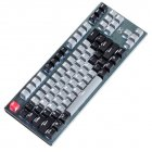 87-key Bluetooth Keyboard Three-mode Mechanical Keyboard for Tablet Phone Computer Gray-black