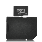 8GB Micro SD card with an added SD card adapter for placing directly into a computer SD memory card slot