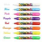 8PCS 6MM Double Head Erasable Liquid Chalk Fluorescent Children Graffiti Marker 8 colors 8